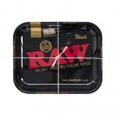 Поднос RAW Black Metal Rolling Tray Large 27.5 X 34 см