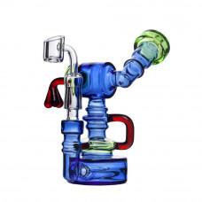 Бонг Bubbler Oil Blue