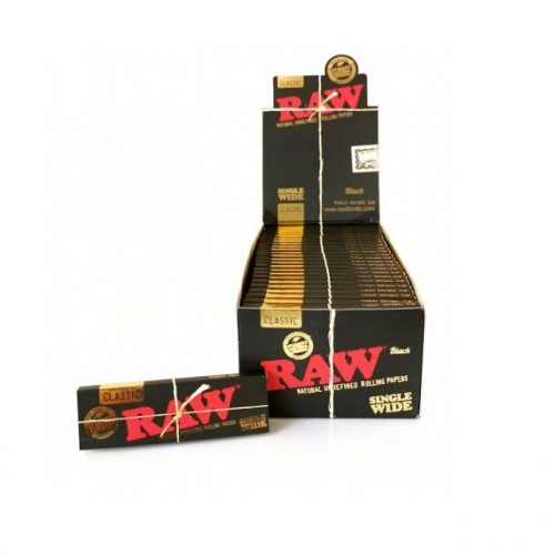 Бумажки RAW Black Single Wide Classic