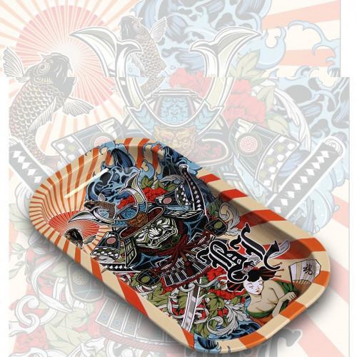 Поднос Black Leaf Ronin & Geisha 20.6 x 10.5 см