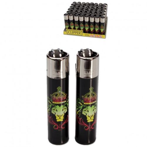 Зажигалка Clipper™ Rasta Lion